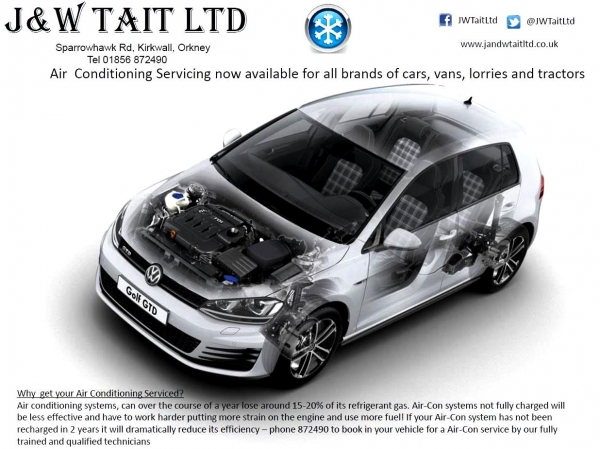 Air Conditioning Servicing Available for all brand of cars, vans,lorries and tractors