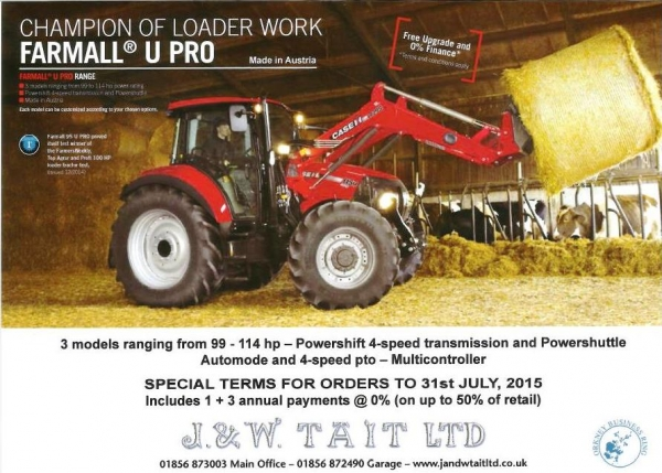 Farmall U Pro - Special terms on orders upto the 31st July