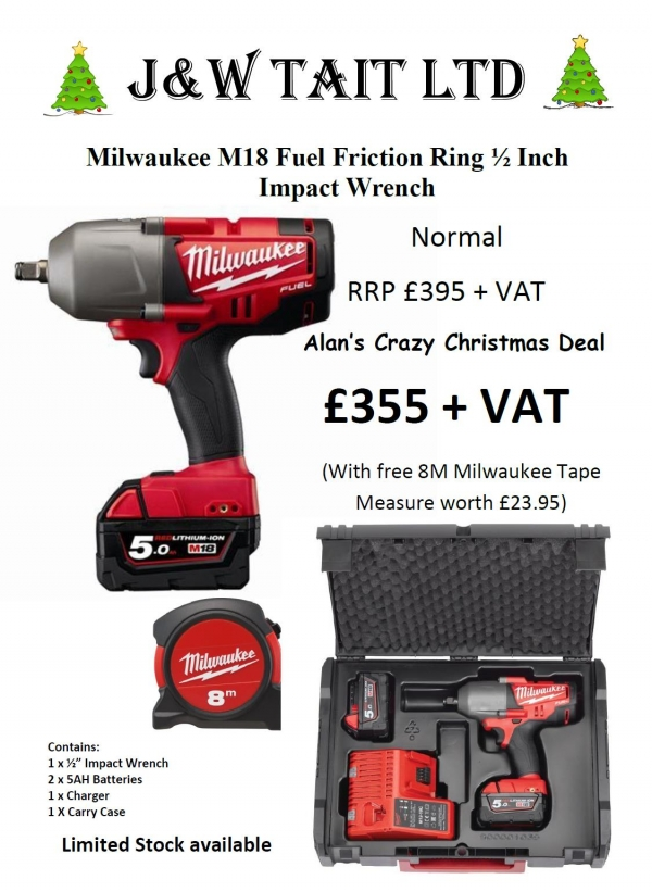 "Alan's Crazy Christmas Deals - Milwaukee 1/2"" Impact Wrench"
