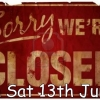 Parts Dept Closed 13th June due to stocktake