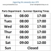 Parts Department Summer Opening