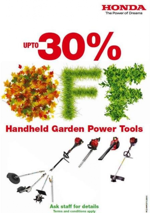 HONDA HANDHELD SALE Up to 30% Off 14th August - 31st October 2015
