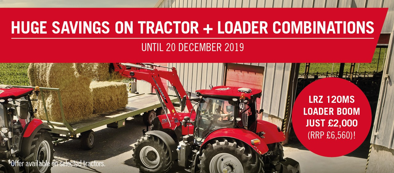 Huge savings on tractor and loader combo's from Case IH